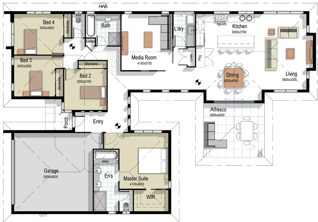 The alexandria house plan for Classic house plan