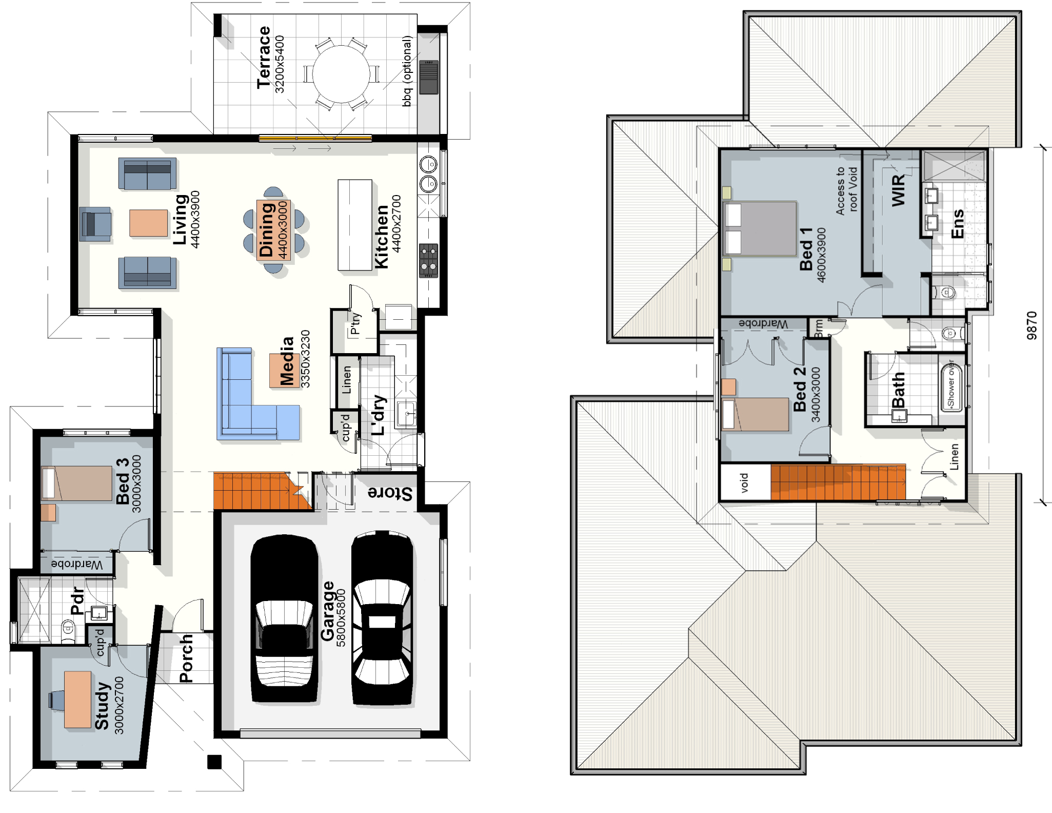 Villa Floor Plans The Hampton House Plan