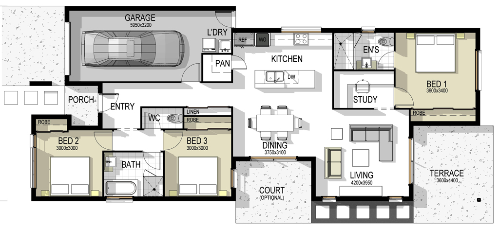 The madrid house plan House layout design
