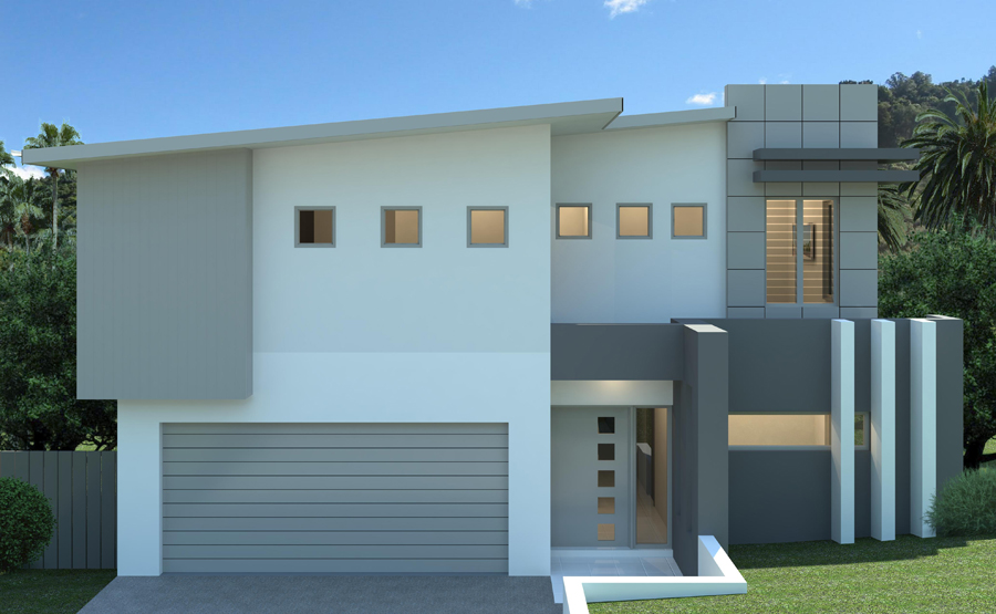 Two Story Modern Home Design