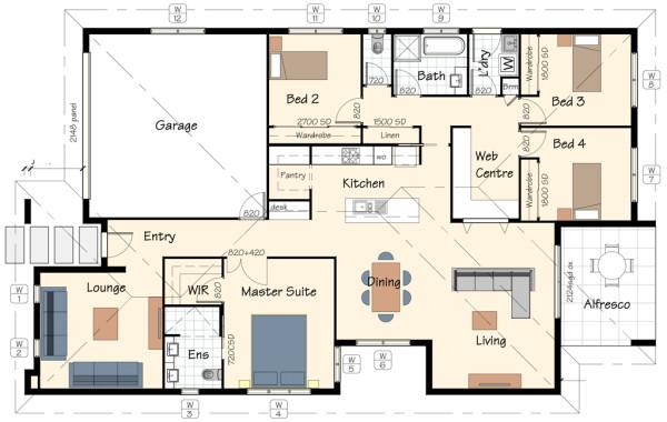 The San Diego House Plan